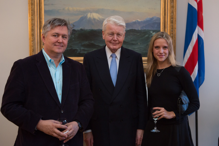 Vern and his daughter Grace meet with Ólafur Ragnar Grímsson, President of Iceland, during IQ's 2014 annual conference in Reykjavik.