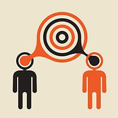 illustration of 2 people communicating