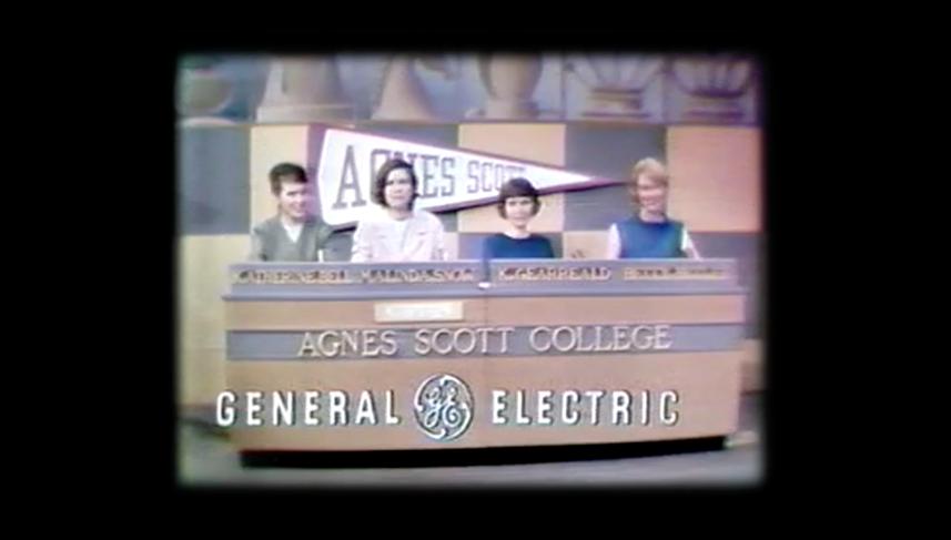 Archival still from Agnes Scott College debate